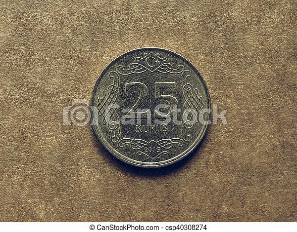 Vintage Turkish coin - csp40308274