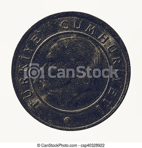 Vintage Turkish coin - csp40328922