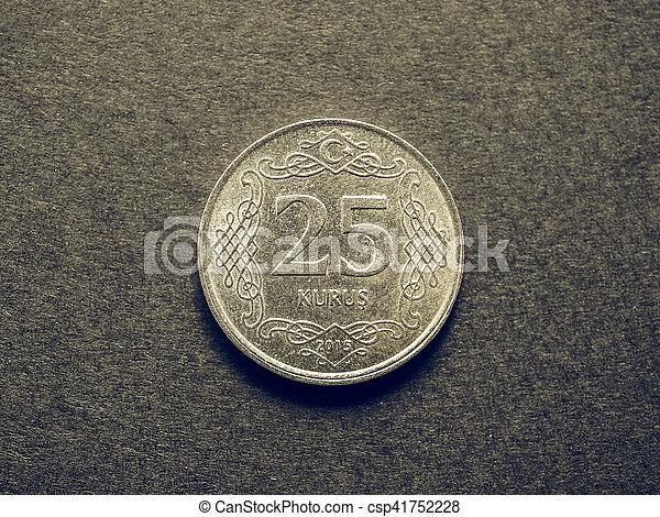 Vintage Turkish coin - csp41752228