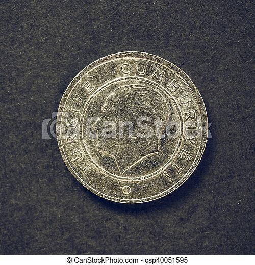 Vintage Turkish coin - csp40051595