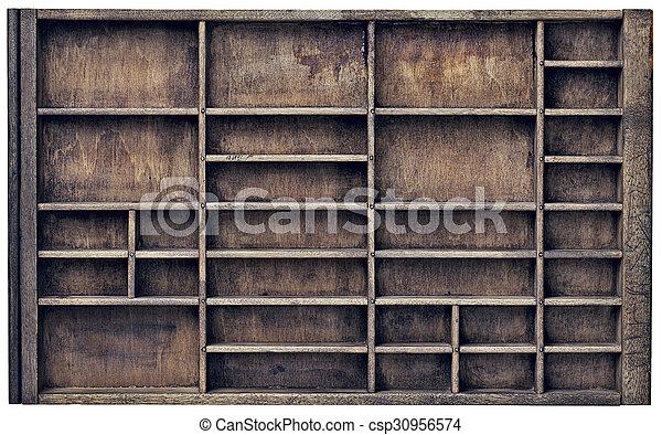 vintage typesette orr printer drawer - csp30956574