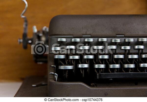 vintage typewriter - csp10744376