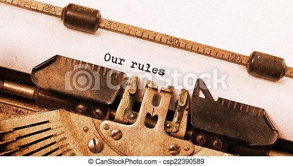 Vintage typewriter - csp22390589