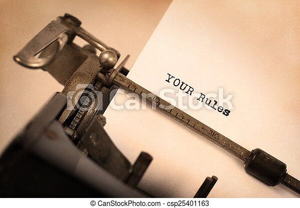 Vintage typewriter - csp25401163