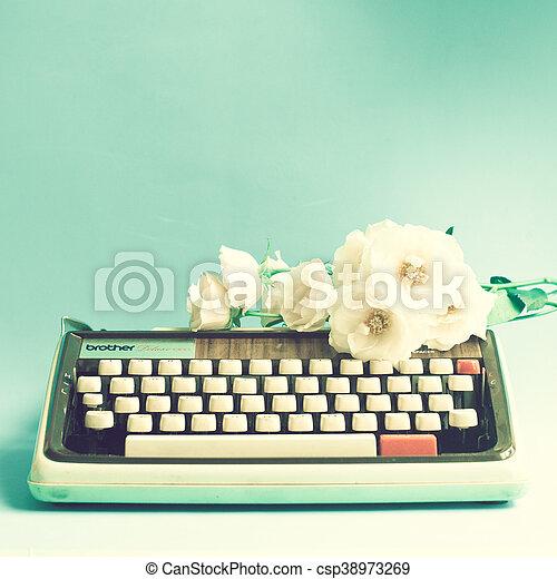 Vintage typewriter - csp38973269