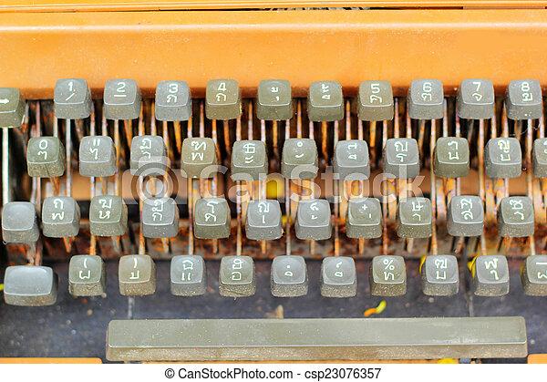 vintage typewriter - csp23076357
