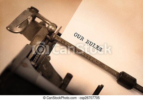 Vintage typewriter - csp26707705