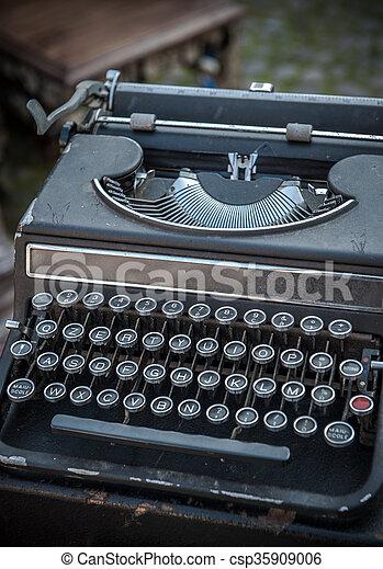 Vintage typewriter - csp35909006