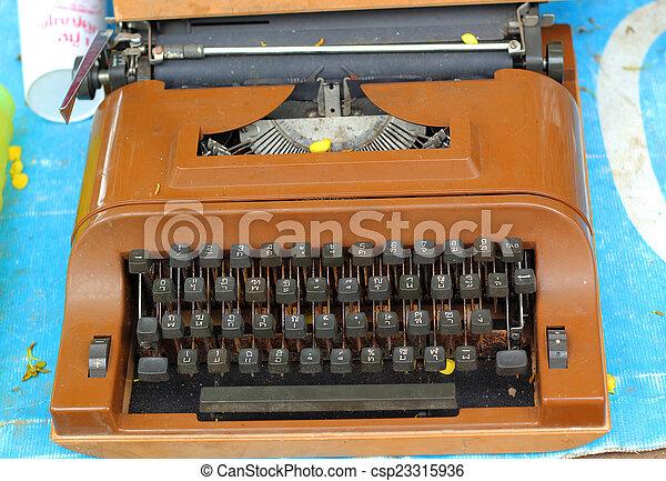 vintage typewriter - csp23315936