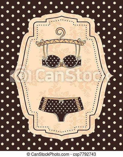 Vintage underlinen - csp7792743