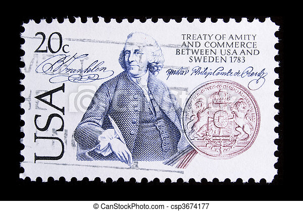 vintage US commemorative postage stamp - csp3674177