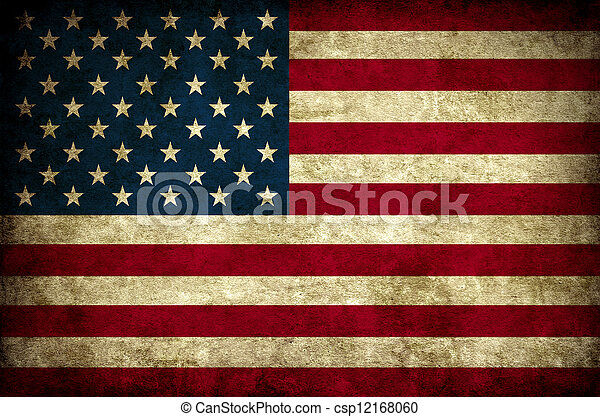 Vintage Usa Flag Old America National Stock