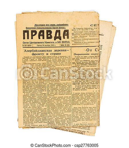 Vintage USSR newspaper Pravda - csp27763005