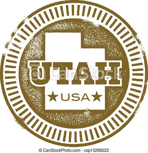Vintage Utah USA State Stamp - csp13268222