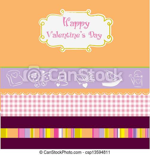 vintage valentine's day card - csp13594811