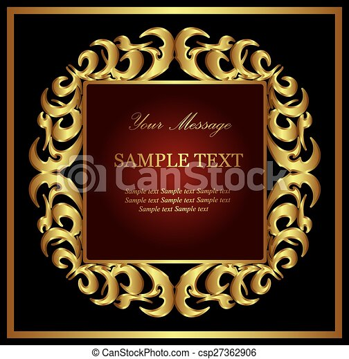 Vintage vector background - csp27362906