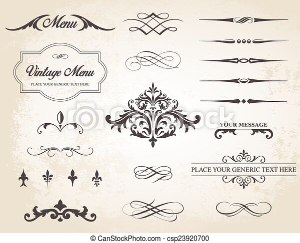 vintage vector label page dividers and borders this image is a