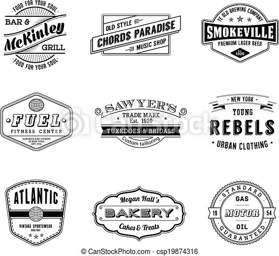 Vintage Vector Labels - csp19874316