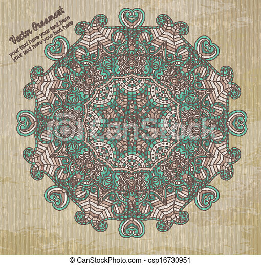 Vintage vector pattern. Hand drawn abstract background. Decorative retro banner.  Can be used for banner, invitation, wedding card,  scrapbooking and others. Royal vector design element. - csp16730951