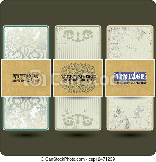 Vintage vector set labels - csp12471239