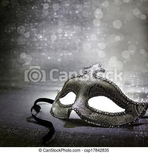 Vintage venetian carnival mask  - csp17842835