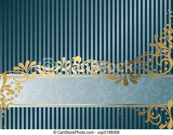 Vintage Victorian banner, horizontal - csp3196068