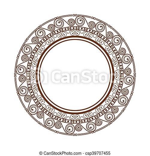Vintage Victorian Frame Ornament Elegant Decoration Border Circle