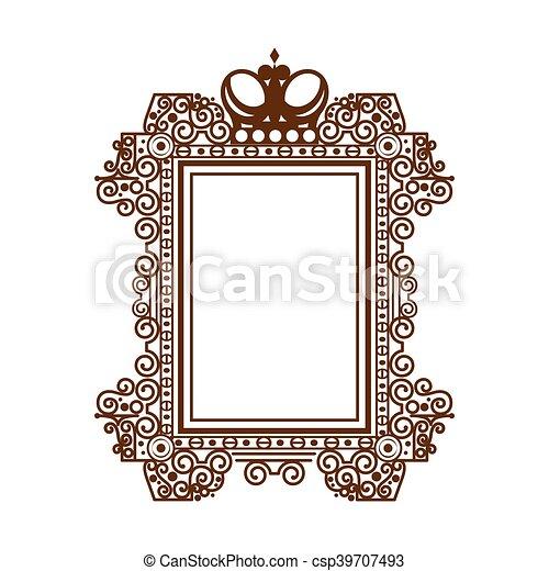 Vintage Victorian Frame Ornament Elegant Decoration Square Border