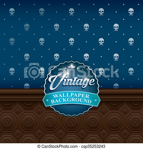 vintage wall background3 - csp35253243