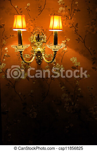 vintage wall lamp - csp11856825