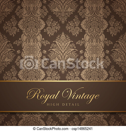 vintage wallpaper design flourish background floral pattern wedding card classic vector design template editable https www canstockphoto com vintage wallpaper design flourish 14865241 html