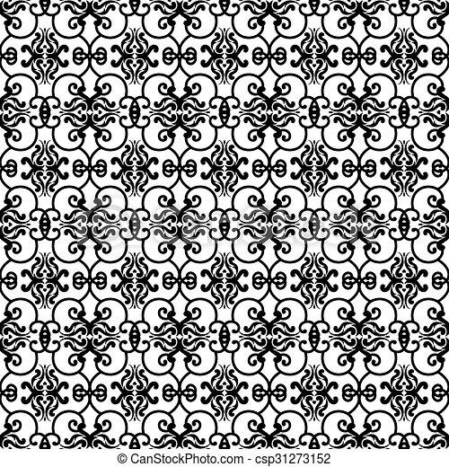 vintage wallpaper pattern - csp31273152