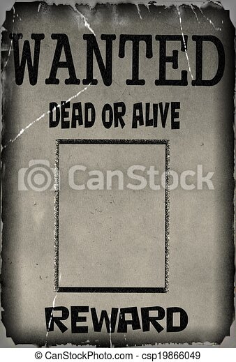 Vintage Wanted Poster Template Background Drawing  Search Clip Art