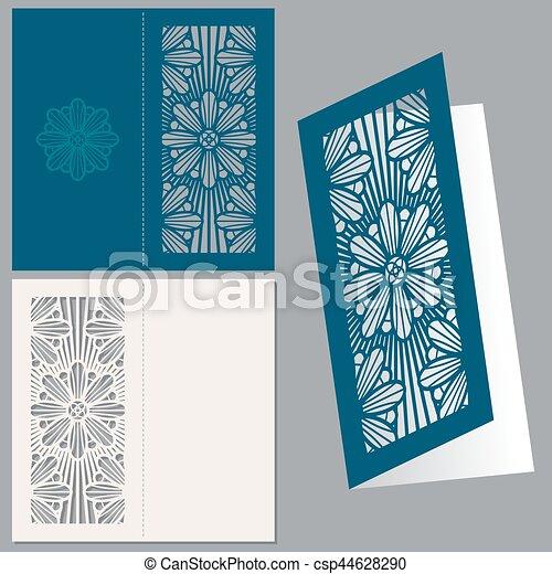 vintage wedding invitation postcard envelope vector design template