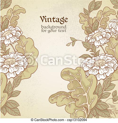 Vintage wild meadow flowers - csp13102094