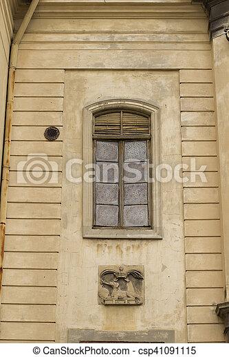 Vintage window on a church in Lviv - csp41091115