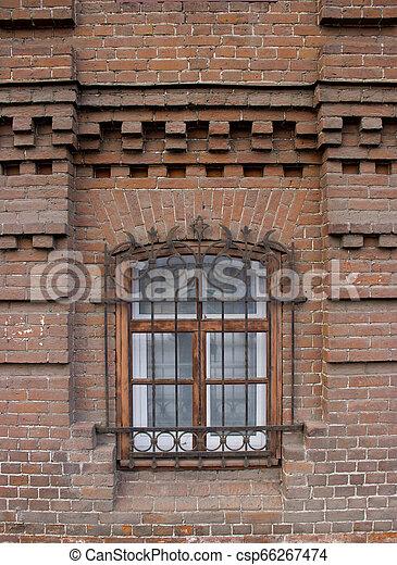 Vintage Windows in a brick house. - csp66267474