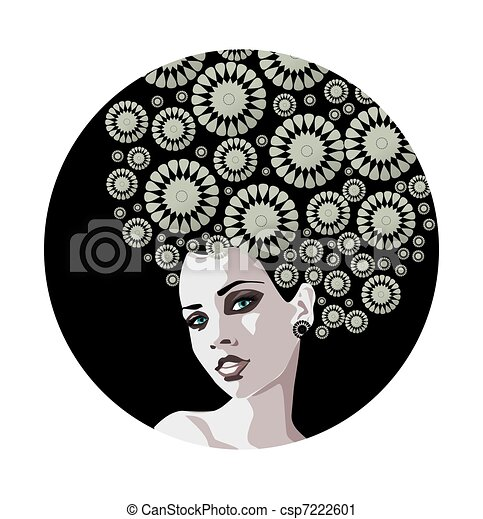 Vintage Woman Stock Illustration