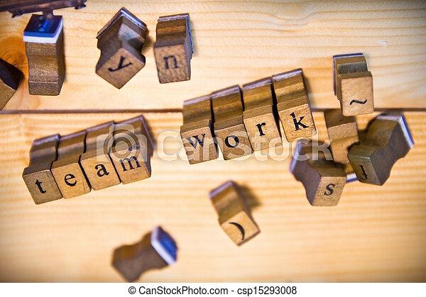 vintage wood letterpress types - csp15293008