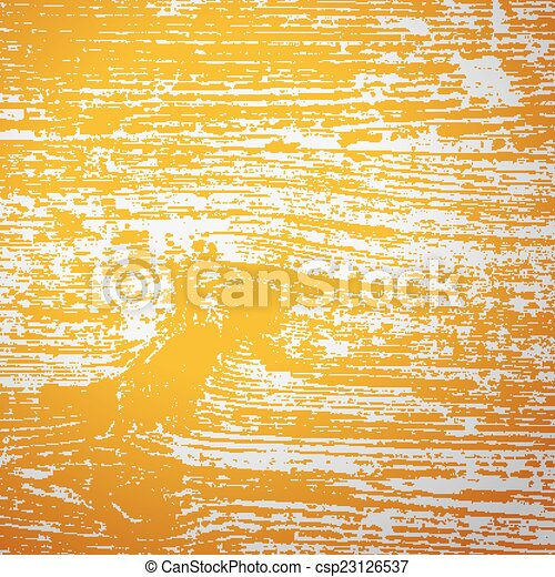 Vintage wooden texture with yellow toning, filter effect, vector background - csp23126537