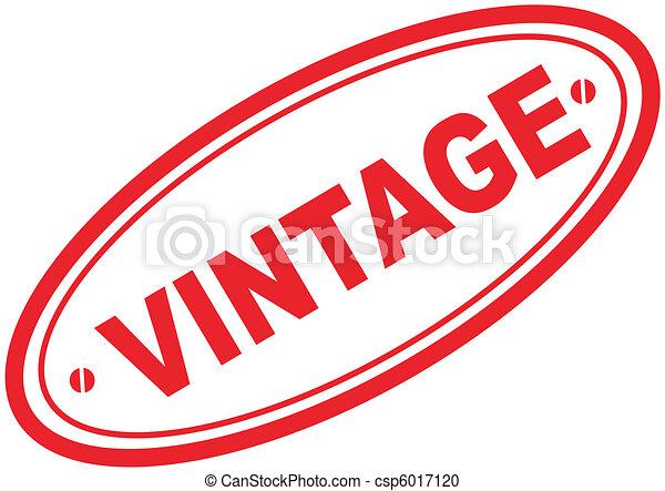 vintage word stamp3 - csp6017120