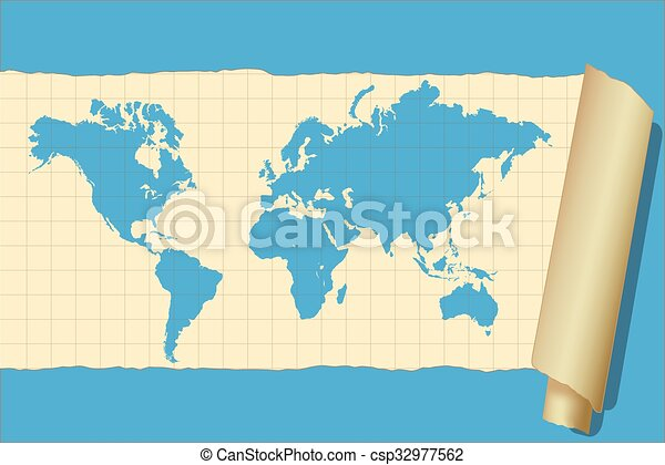 Vintage world map on a colorful background clip art vector search vintage world map csp32977562 gumiabroncs Images