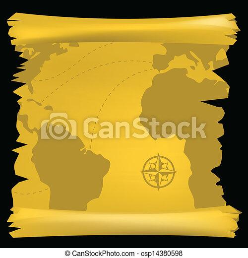 Vector illustration of a vintage world map eps vectors search clip vintage world map csp14380598 gumiabroncs Images