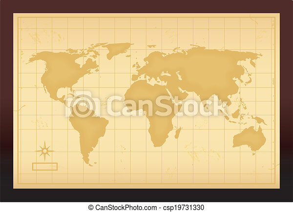 Old vintage world map vector illustration vectors search clip art vintage world map csp19731330 gumiabroncs Image collections