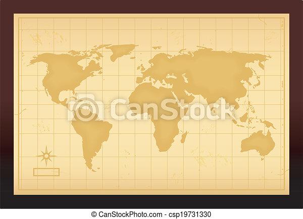 Old vintage world map vector illustration vectors search clip art vintage world map csp19731330 gumiabroncs Images