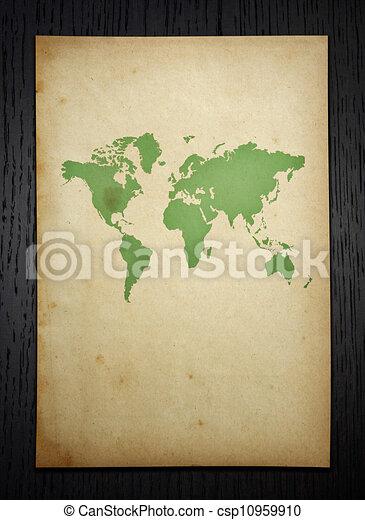 Vintage world map on dark wood background clipart search vintage world map on dark wood background csp10959910 gumiabroncs Gallery