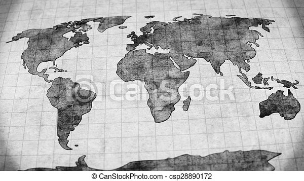 Vintage world map stock illustrations search eps clipart drawings vintage world map csp28890172 gumiabroncs Gallery
