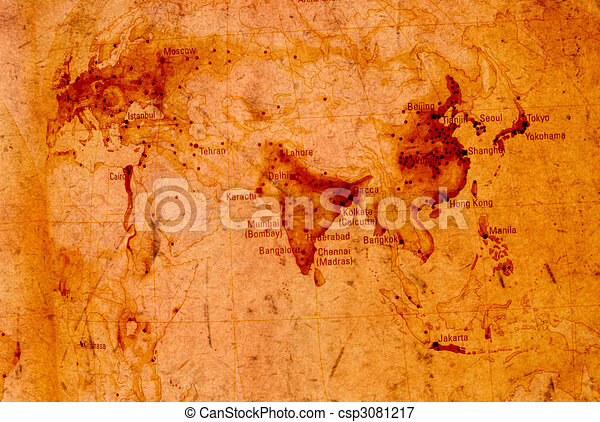 Vintage world map2d digital art stock illustrations search eps vintage world map csp3081217 gumiabroncs Images