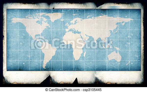 Vintage world map2d digital art stock illustrations search vintage world map csp3105445 gumiabroncs Gallery
