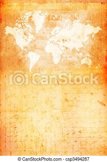 Vintage world map 2d art stock illustrations search eps clipart vintage world map csp3494287 gumiabroncs Images